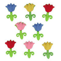 "Набор пуговиц ""ASSORTED EASTER BUTTONS-TULIPS"", 5299"